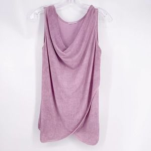 Made in Italy Lavender Cowl Neck Top